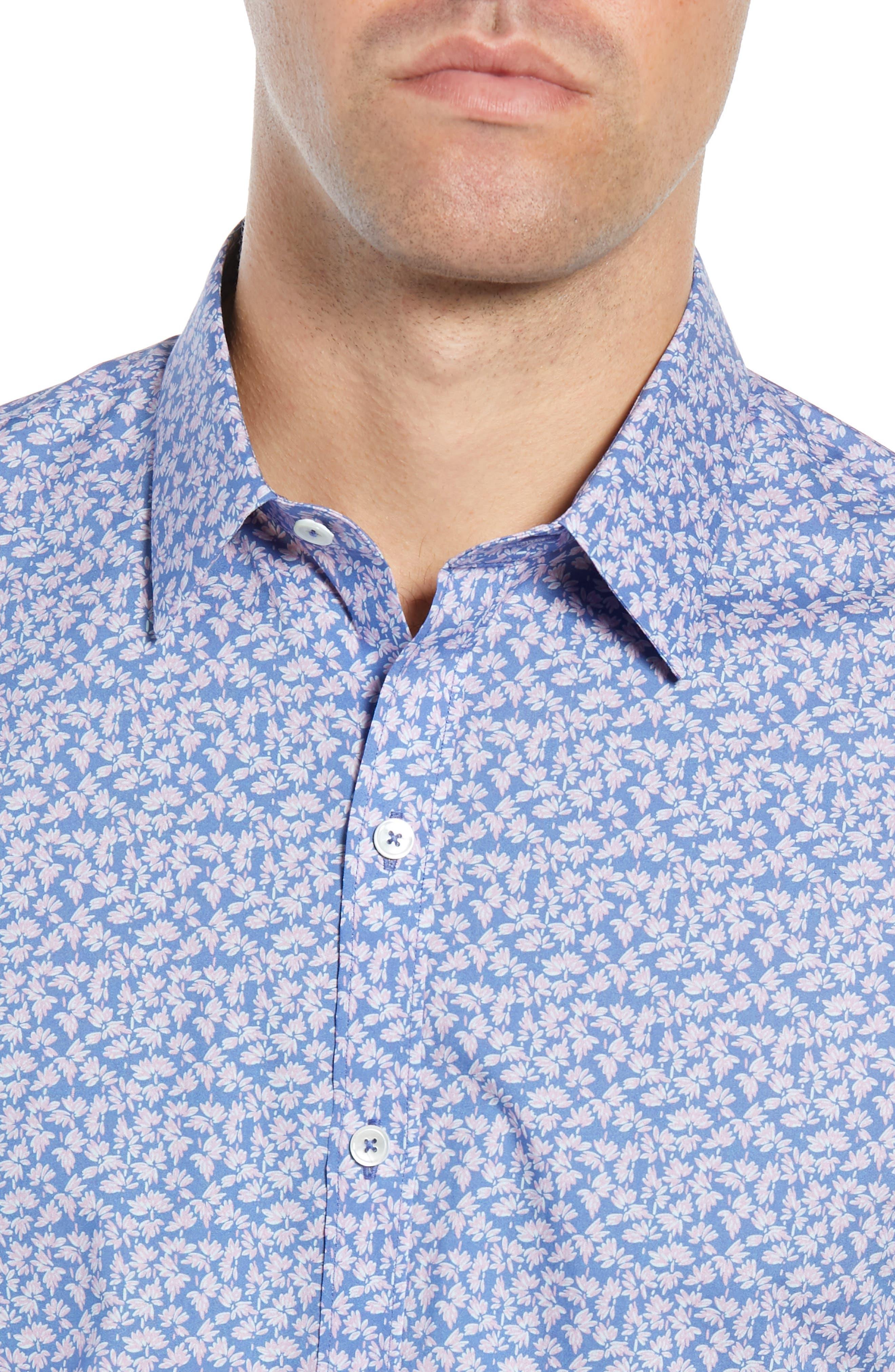 ,                             Wadley Regular Fit Print Sport Shirt,                             Alternate thumbnail 4, color,                             500