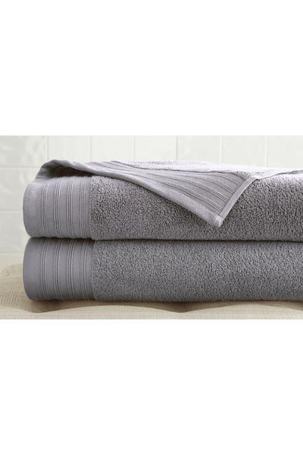 Image of Modern Threads Oversized Quick Dry Bath Sheets - Set of 2 - Platinum