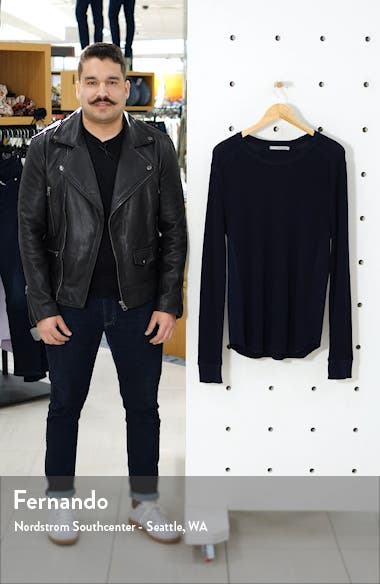 Regular Fit Thermal Knit Crewneck Sweatshirt, sales video thumbnail