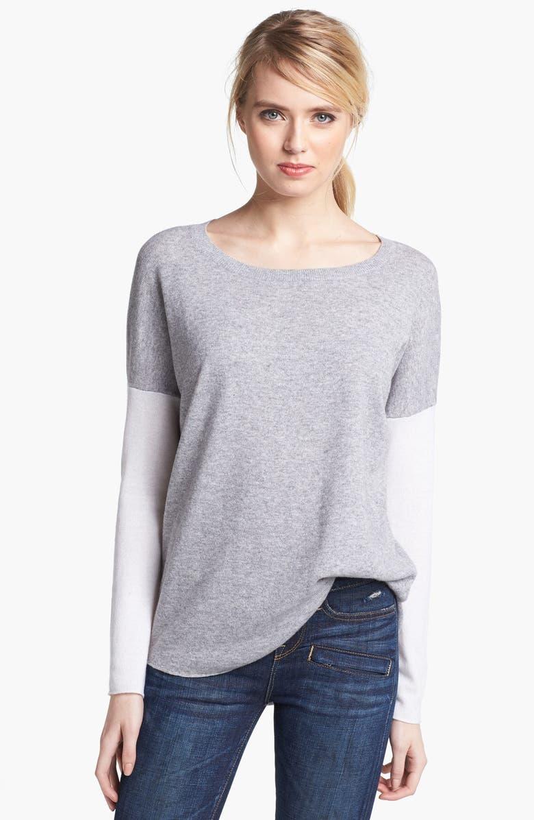 VINCE Colorblock Crewneck Sweater, Main, color, 020
