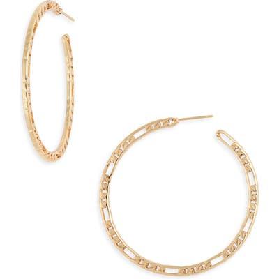 Sterling Forever Chain Link Hoop Earrings