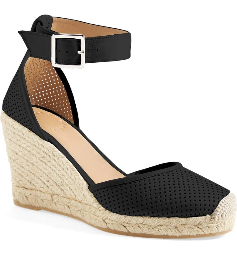 MARC JACOBS MARC BY MARC JACOBS 'Summer Breeze' Lambskin Leather Espadrille Wedge Sandal, Main, color, 001
