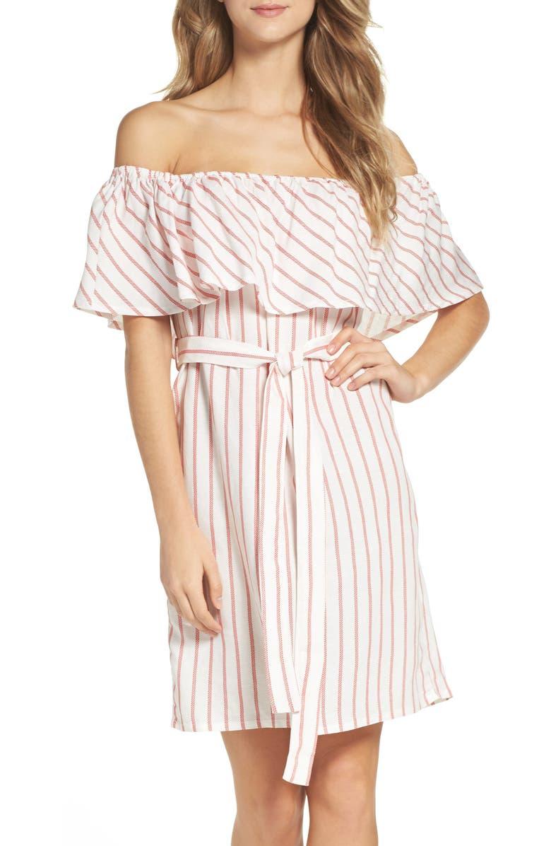 BARDOT Capri Off the Shoulder Dress, Main, color, 640