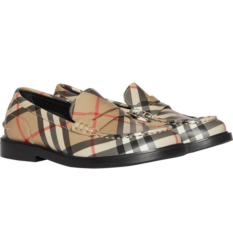 BURBERRY Blakeney Vintage Check Penny Loafer, Main, color, ARCHIVE BEIGE