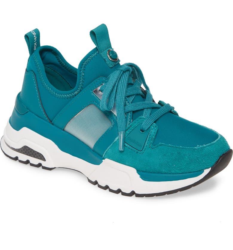 CALVIN KLEIN Huma Sneaker, Main, color, SPRUCE FABRIC