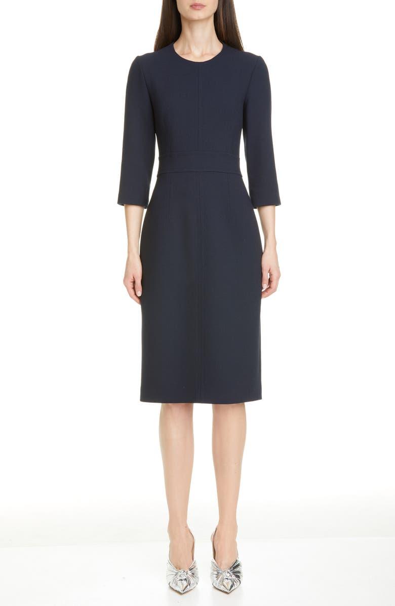 MICHAEL KORS COLLECTION Sheath Dress, Main, color, MIDNIGHT