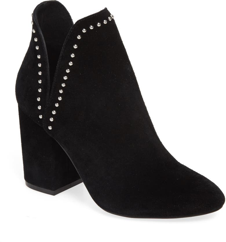 Rockstar Bootie, Main, color, BLACK SUEDE