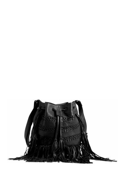 Image of Day & Mood Fenya Fringe Leather Bucket Bag