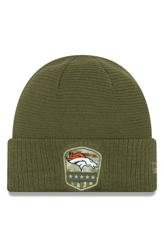 New Era Denver Broncos On-field Salute To Service Cuff Knit Hat