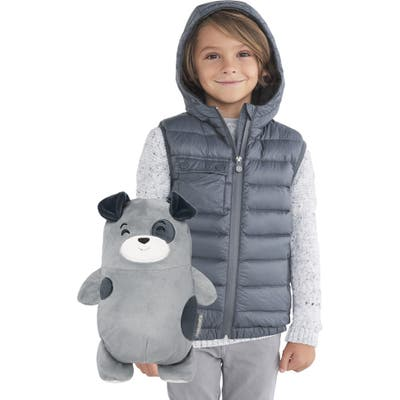 Cubcoats Pimm 2-In-1 Stuffed Animal & Hooded Down Vest,5 - Grey