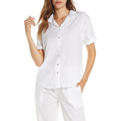 Papinelle Whale Beach Pajama Top, White
