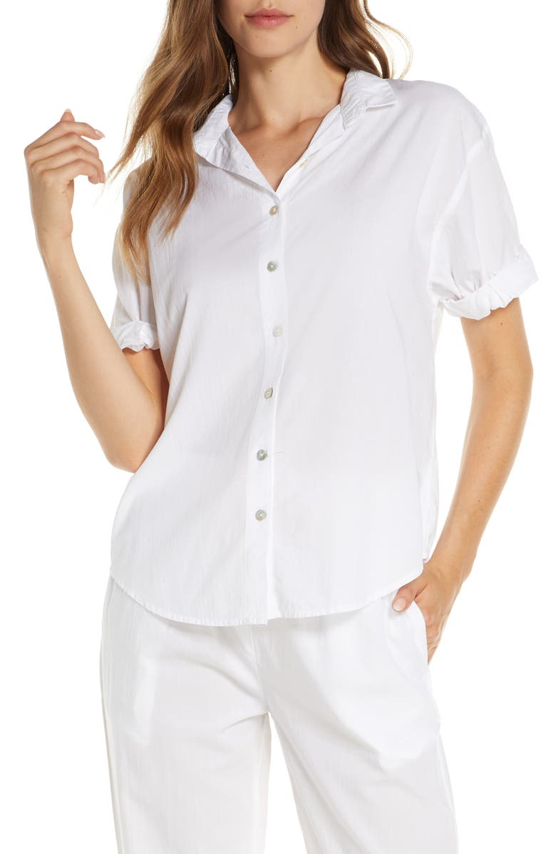 PAPINELLE Whale Beach Pajama Top, Main, color, 100