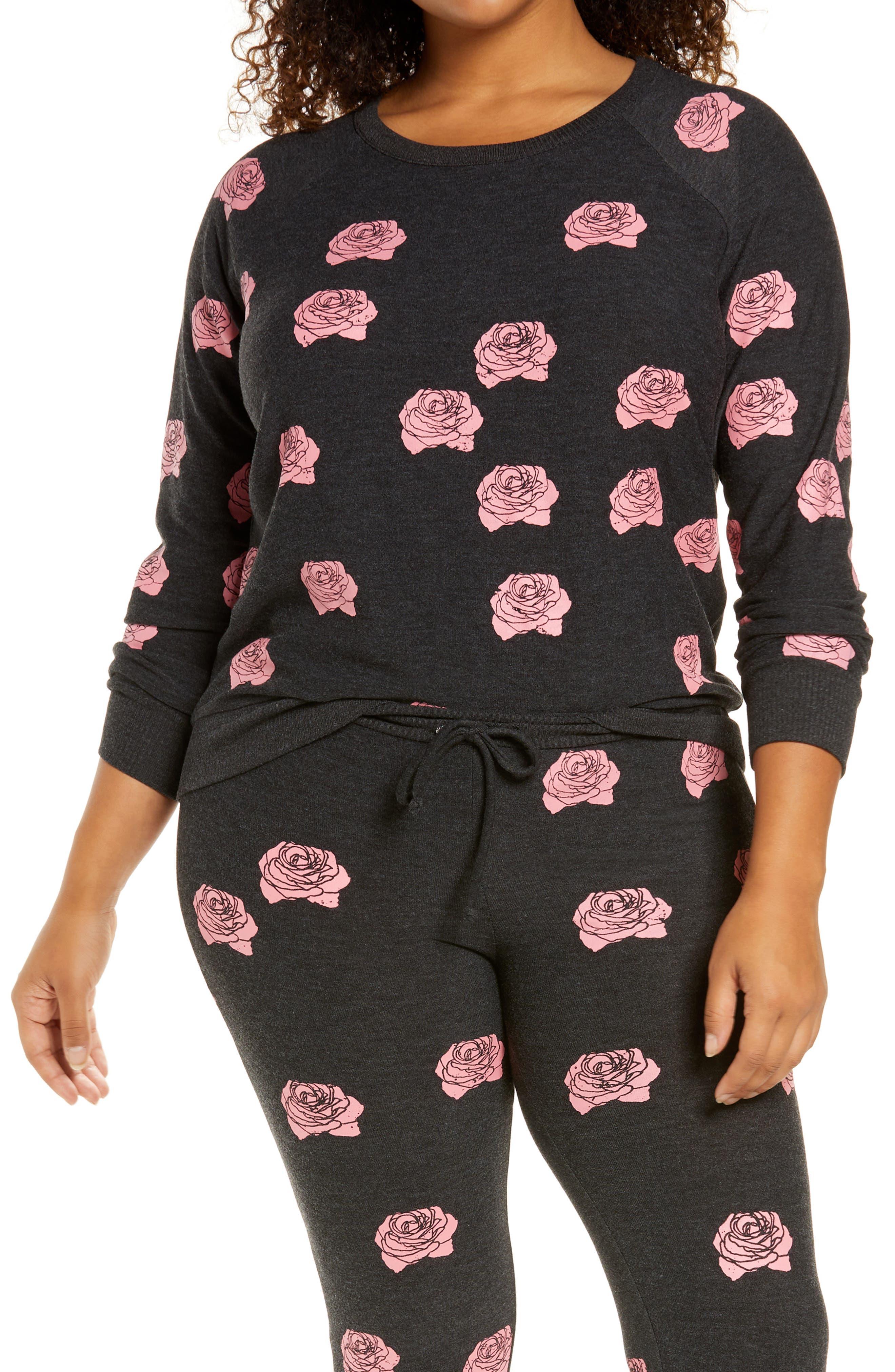 Rose Print Pullover