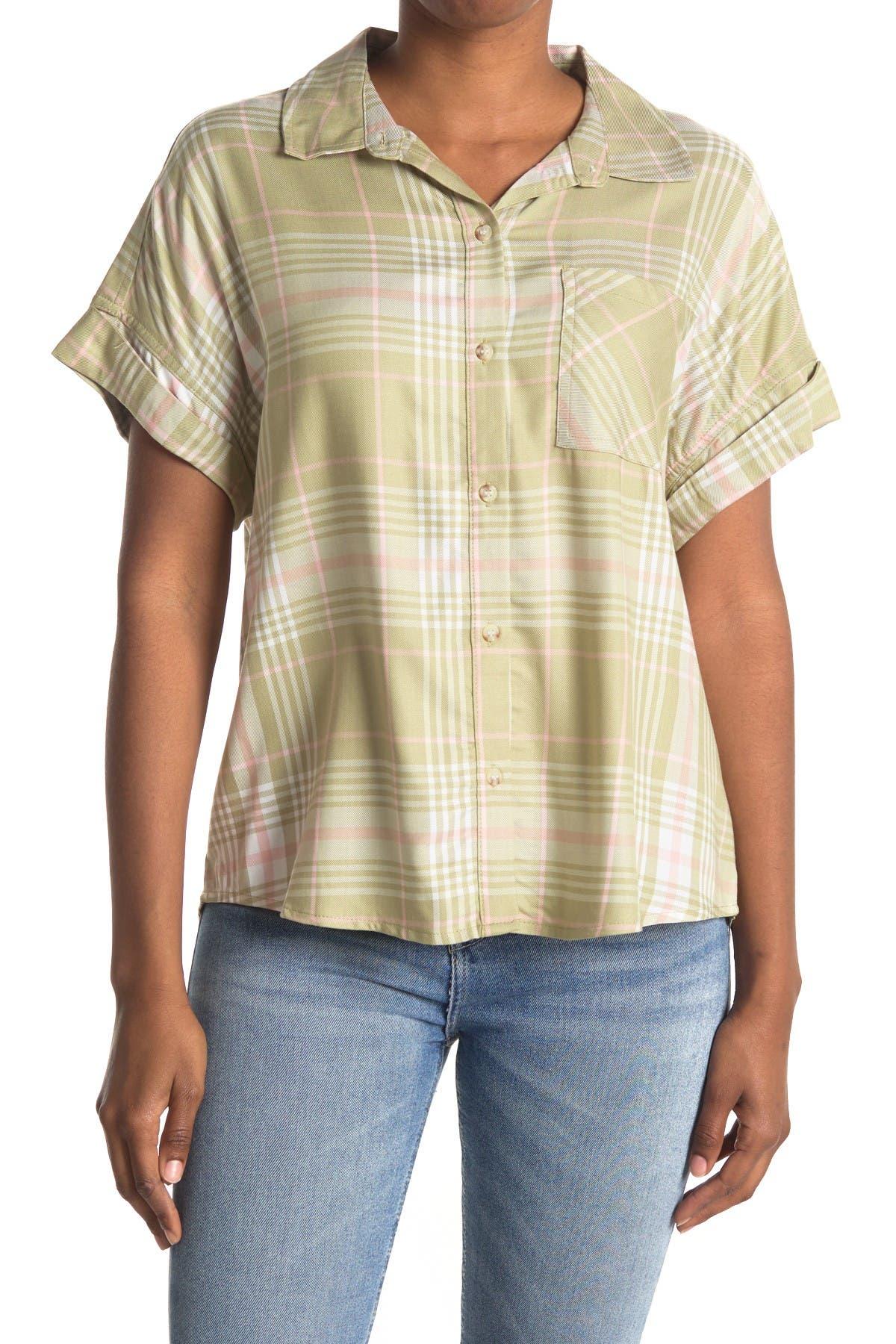 Image of Sanctuary Pattern Button Front Blouse