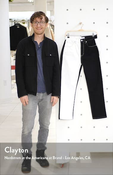 Colorblock Straight Leg Jeans, sales video thumbnail