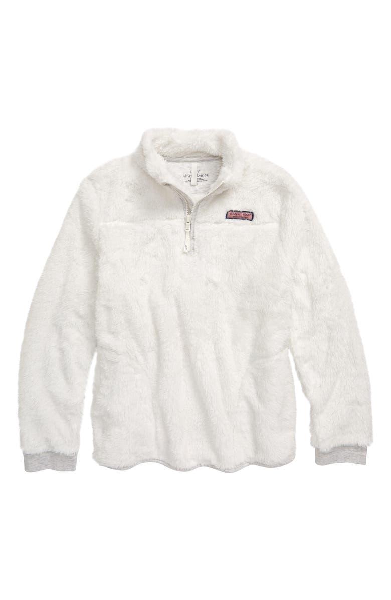 VINEYARD VINES Fleece Half Zip Pullover, Main, color, 100