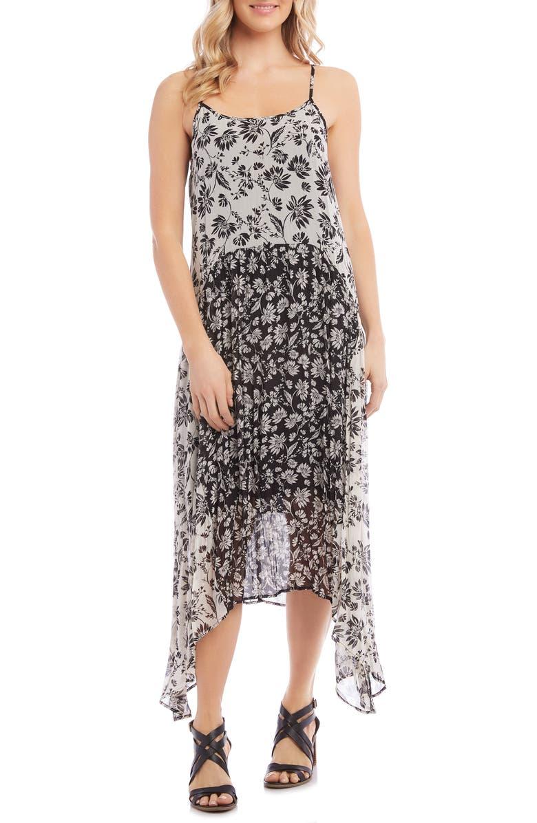 KAREN KANE Mixed Print Sundress, Main, color, 100