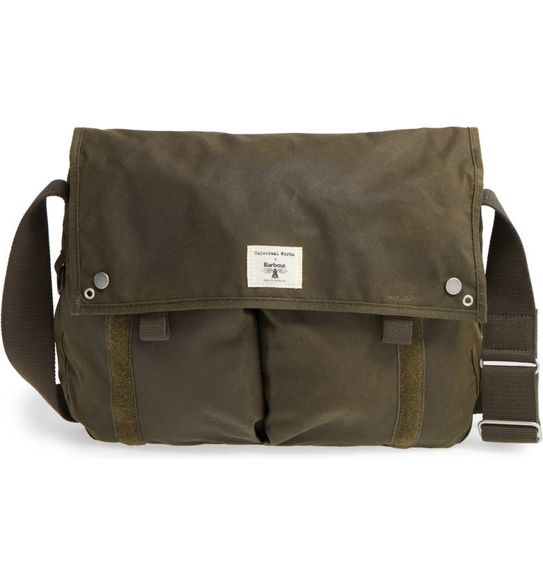 Barbour Waxed Canvas Messenger Bag Nordstrom