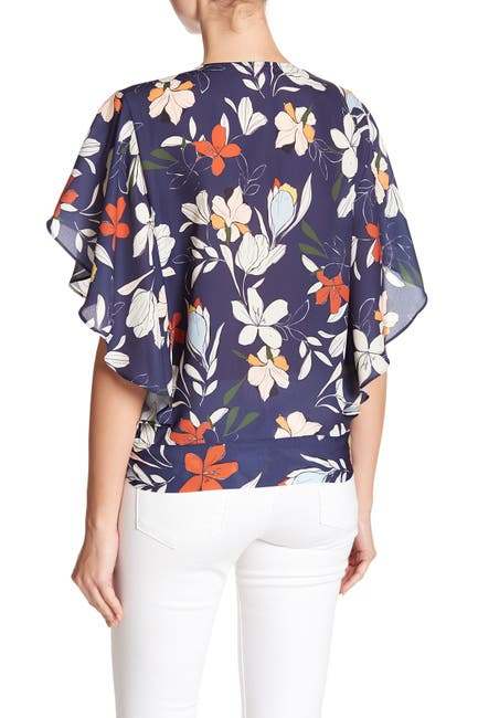 Image of Parker Wrap Short Sleeve Top