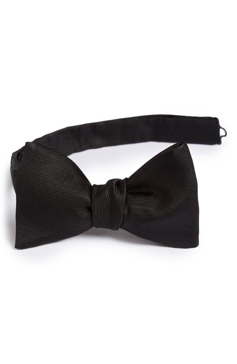 ETON Silk Bow Tie, Main, color, BLACK