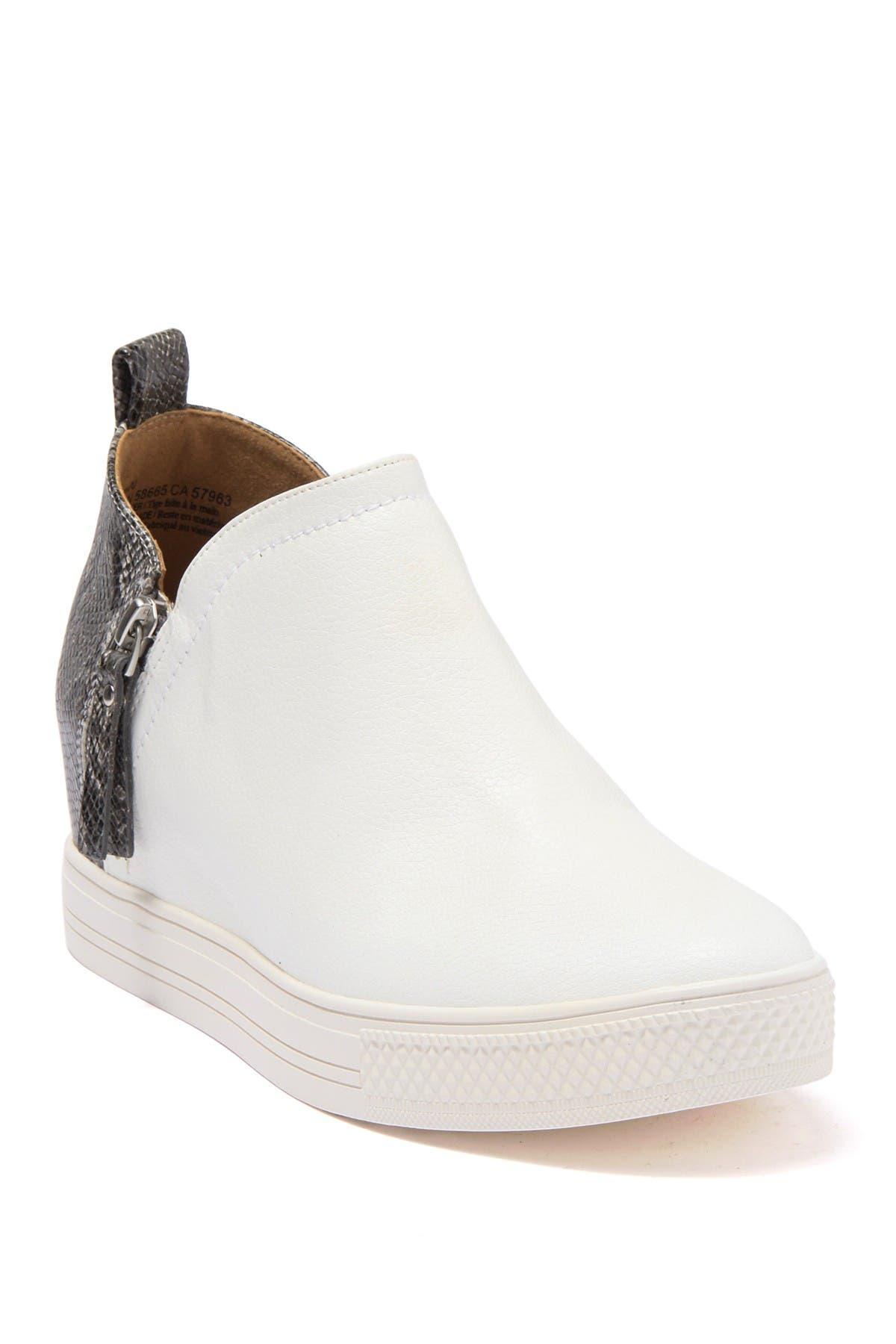 Adra Snakeskin Printed Wedge Sneaker