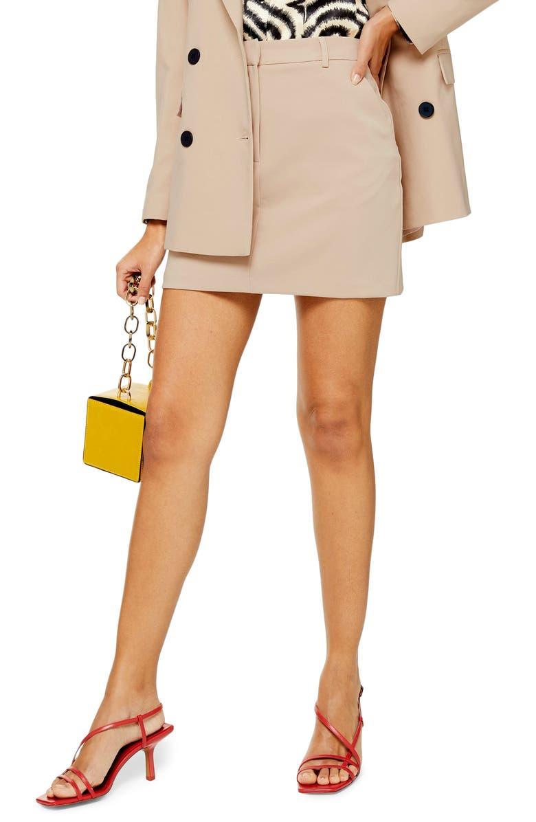 TOPSHOP Eliza Pelmet Miniskirt, Main, color, 250