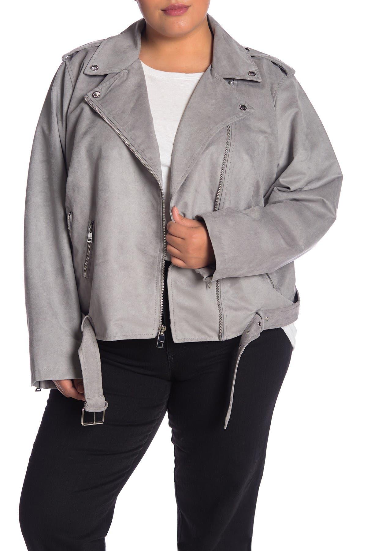 Image of Levi's Faux Suede Moto Jacket