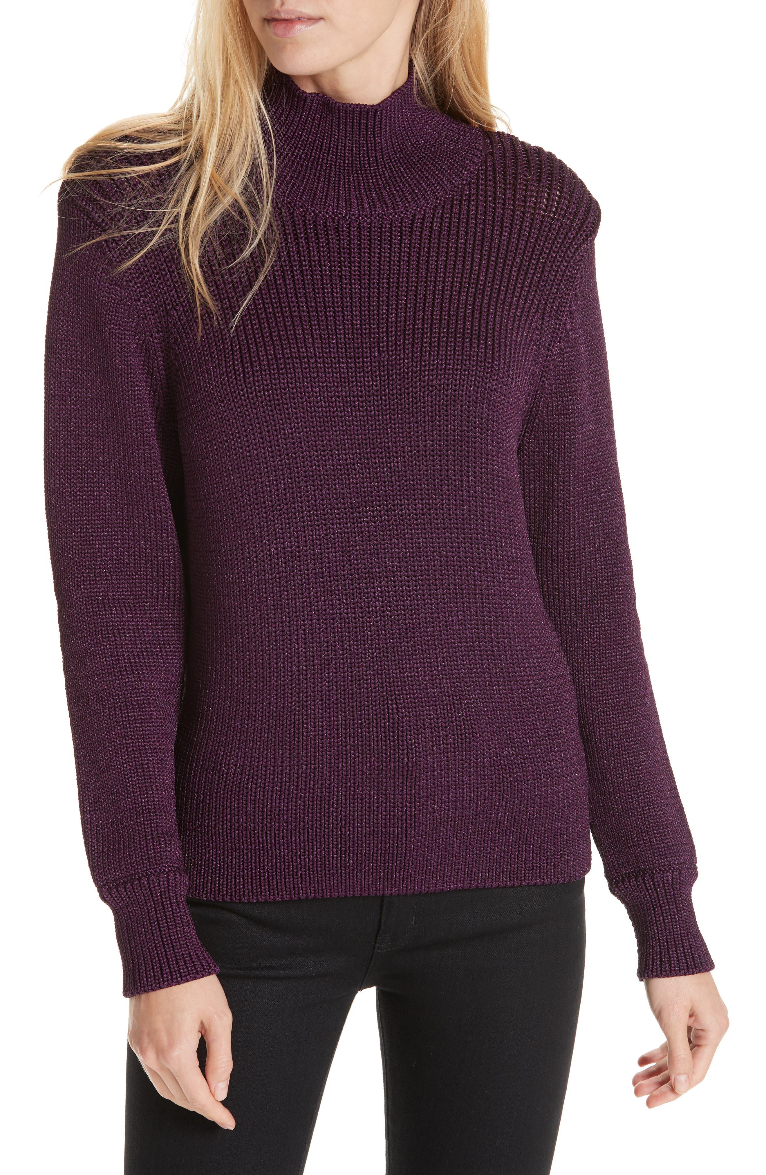 Image of Lewit Funnel Neck Metallic Sweater