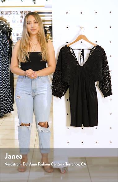 Bodhi Eyelet Sleeve Minidress, sales video thumbnail