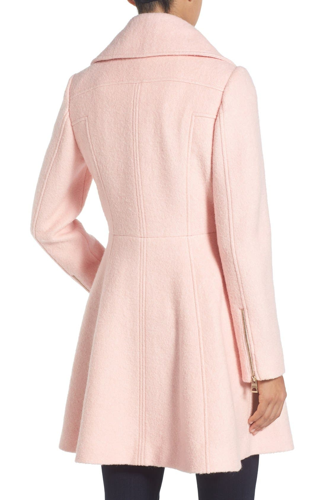 ,                             Envelope Collar Double Breasted Coat,                             Alternate thumbnail 25, color,                             666