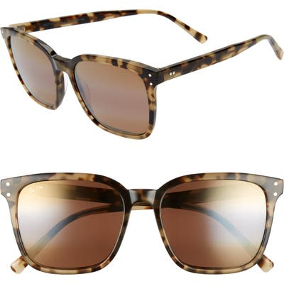 Maui Jim Westside 5m Polarizedplus2 Square Sunglasses - Olive Tortoise/ Hcl Bronze