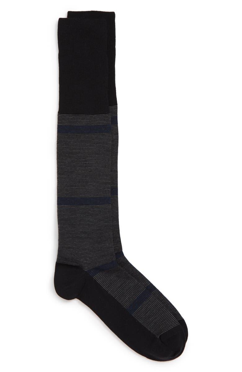 NORDSTROM SIGNATURE Stripe Merino Wool Blend Socks, Main, color, 001