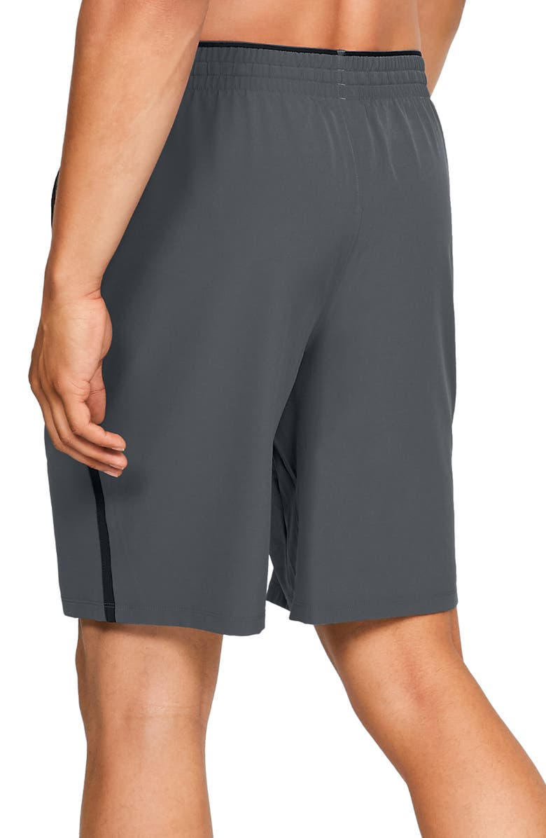UNDER ARMOUR Qualifier Technical Athletic Shorts, Main, color, GREY