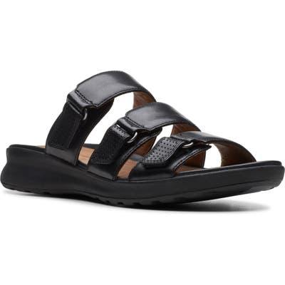 Clarks Unadorn Lane Slide Sandal- Black