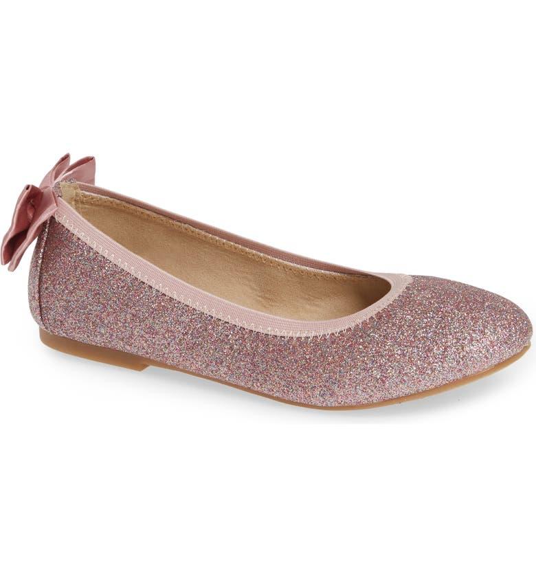 SAM EDELMAN Felicia Esmerelda Glitter Ballet Flat, Main, color, PINK MULTI