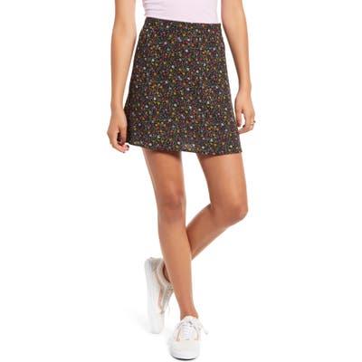 Bp. Print Mini Skater Skirt, Black