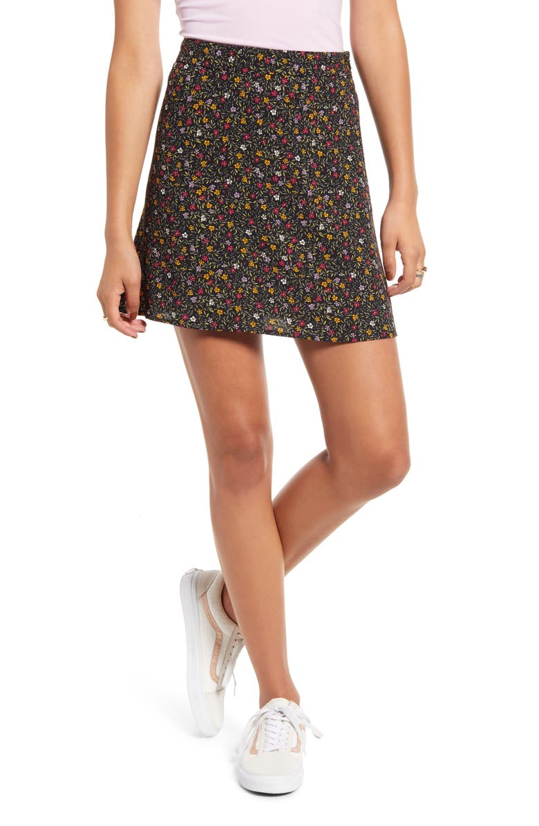 BP. Print Mini Skater Skirt, Main, color, 001