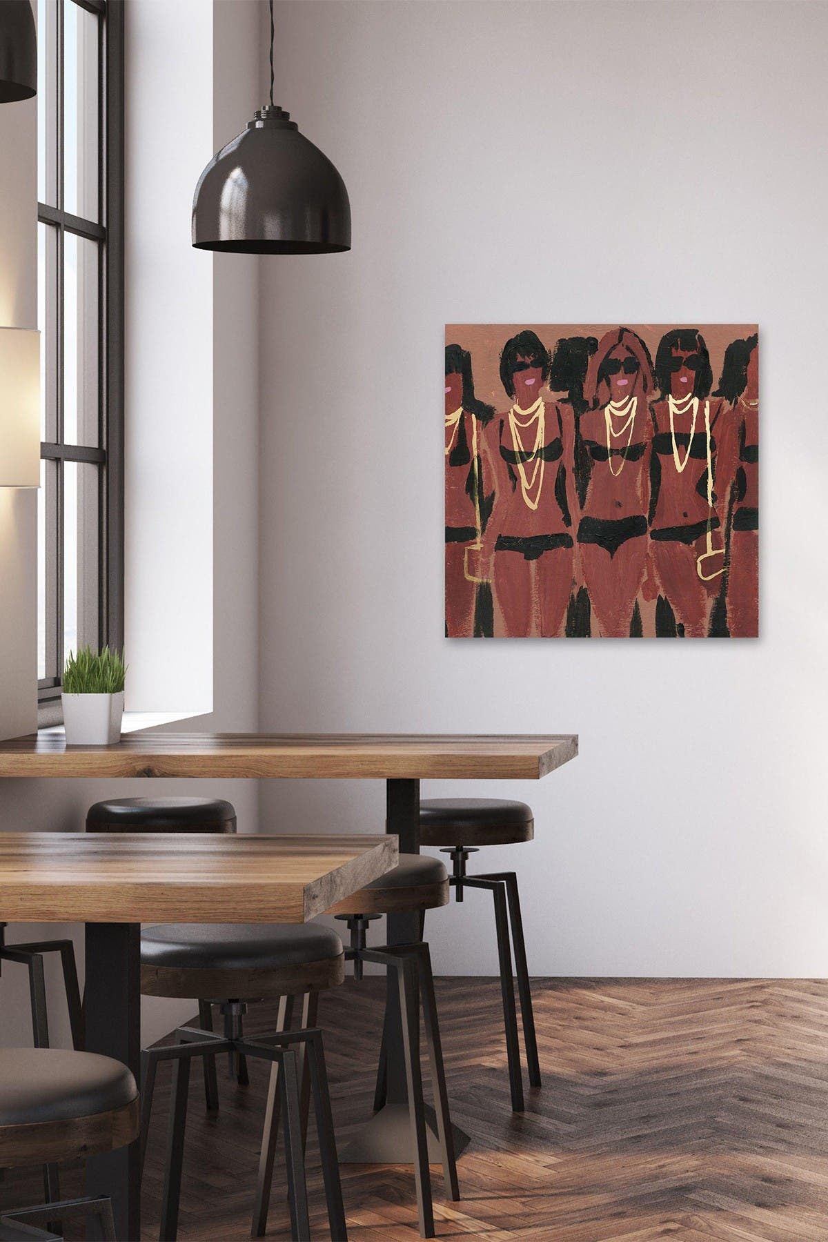 """Image of Marmont Hill Inc. Carmine Style Painting Print on Wrapped Canvas - 48""""x48"""""""