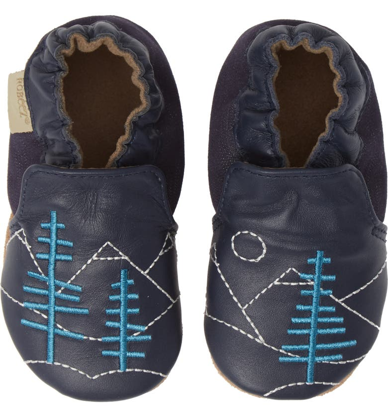 ROBEEZ<SUP>®</SUP> Mountain Explorer Moccasin Crib Shoe, Main, color, 410