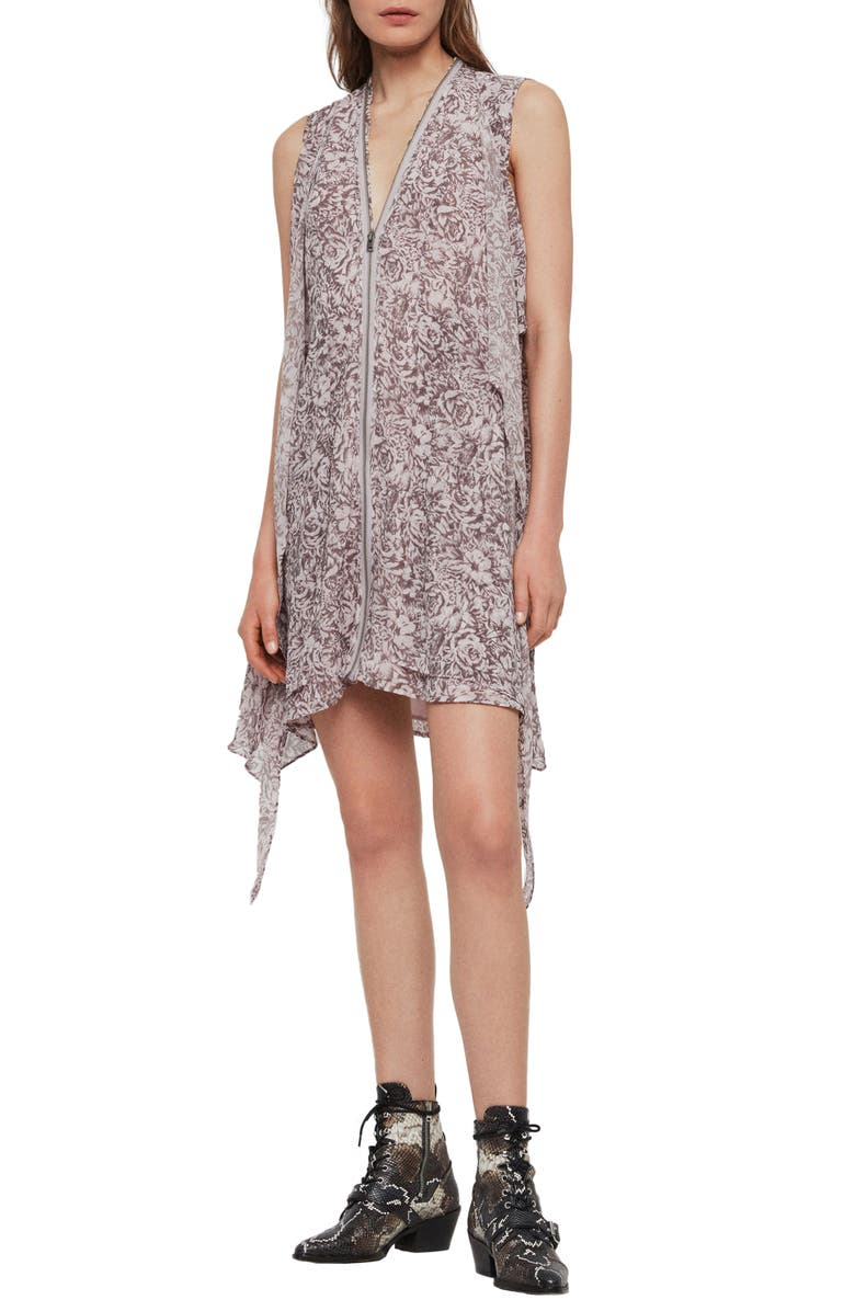 ALLSAINTS Jayda Rosey Sleeveless Dress, Main, color, DUSTY PINK