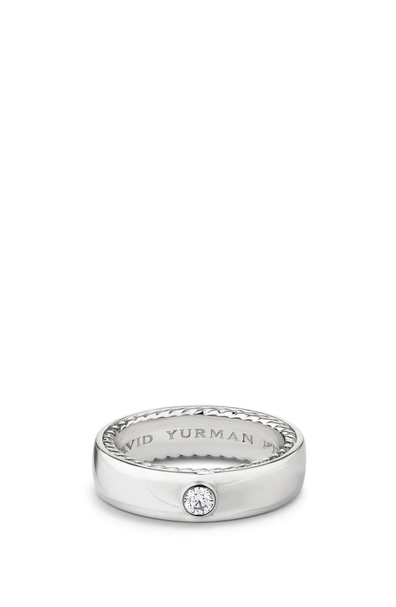 DAVID YURMAN Streamline Band Ring with Diamond, 6mm, Main, color, 040