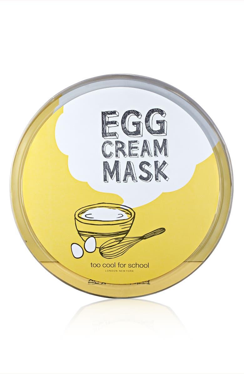 TOO COOL FOR SCHOOL Egg Cream Microfiber Sheet Mask, Main, color, 000