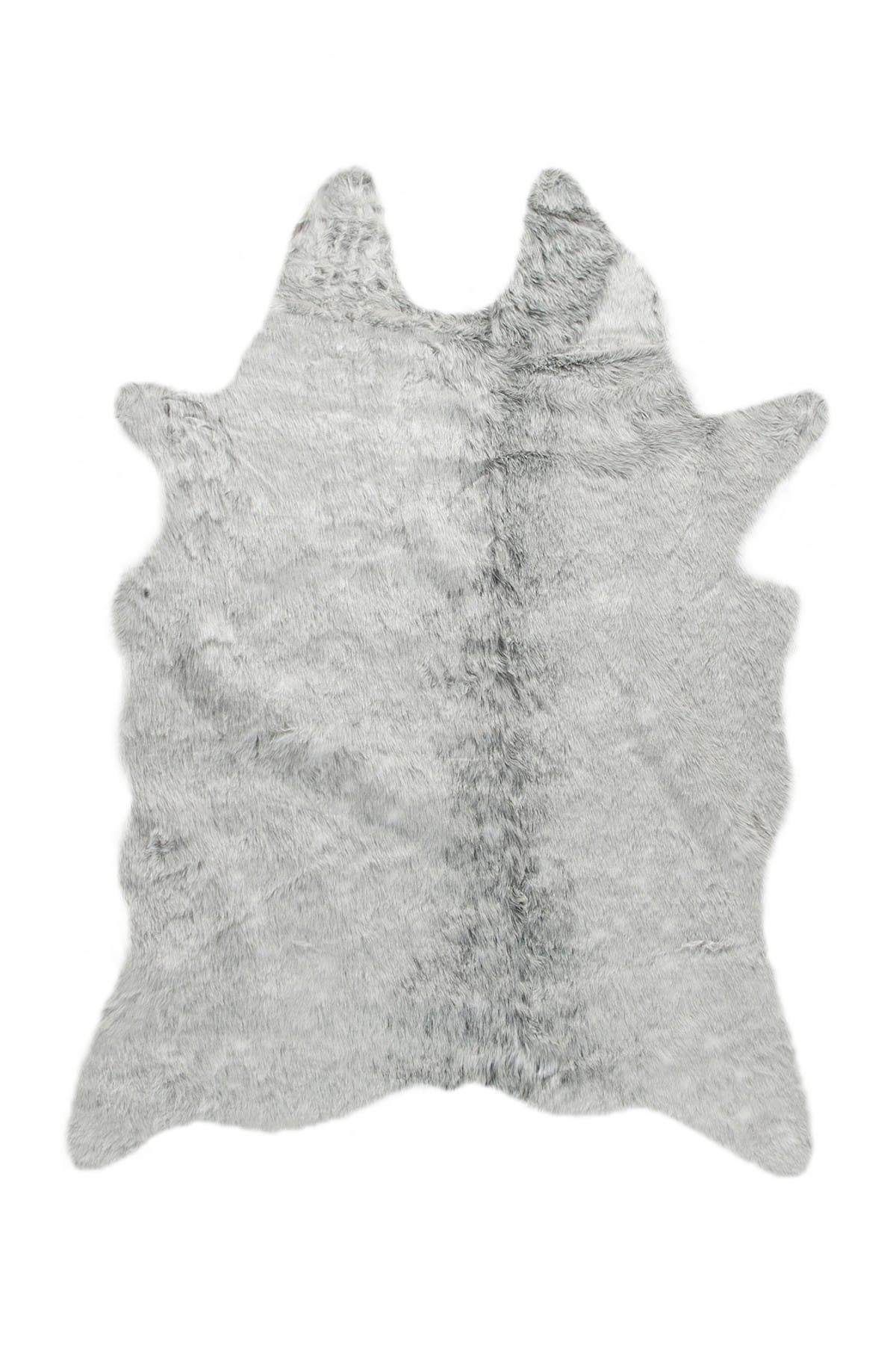 Image of LUXE Faux Cowhide Rug - Grey