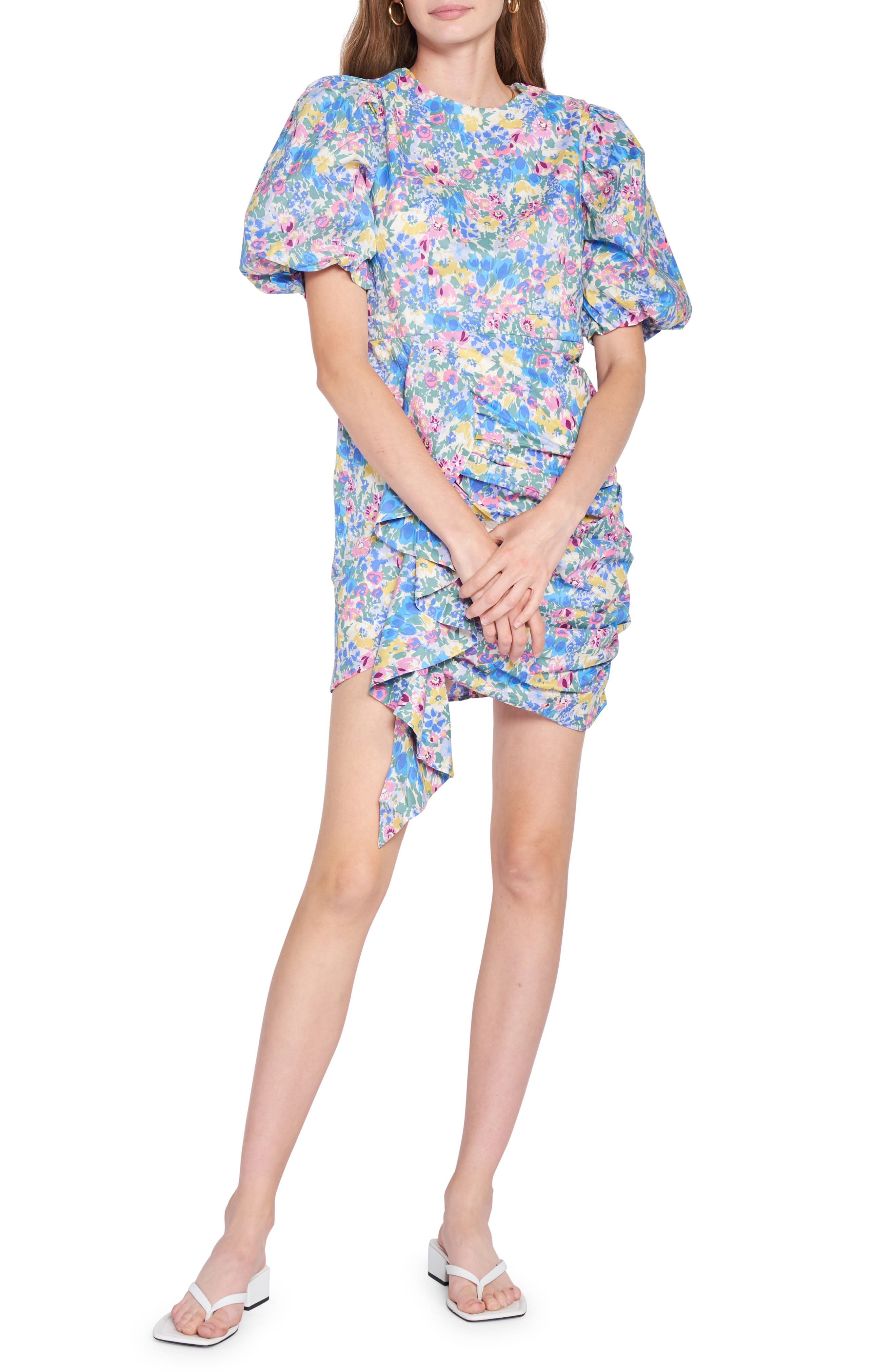 Floral Print Cotton Minidress
