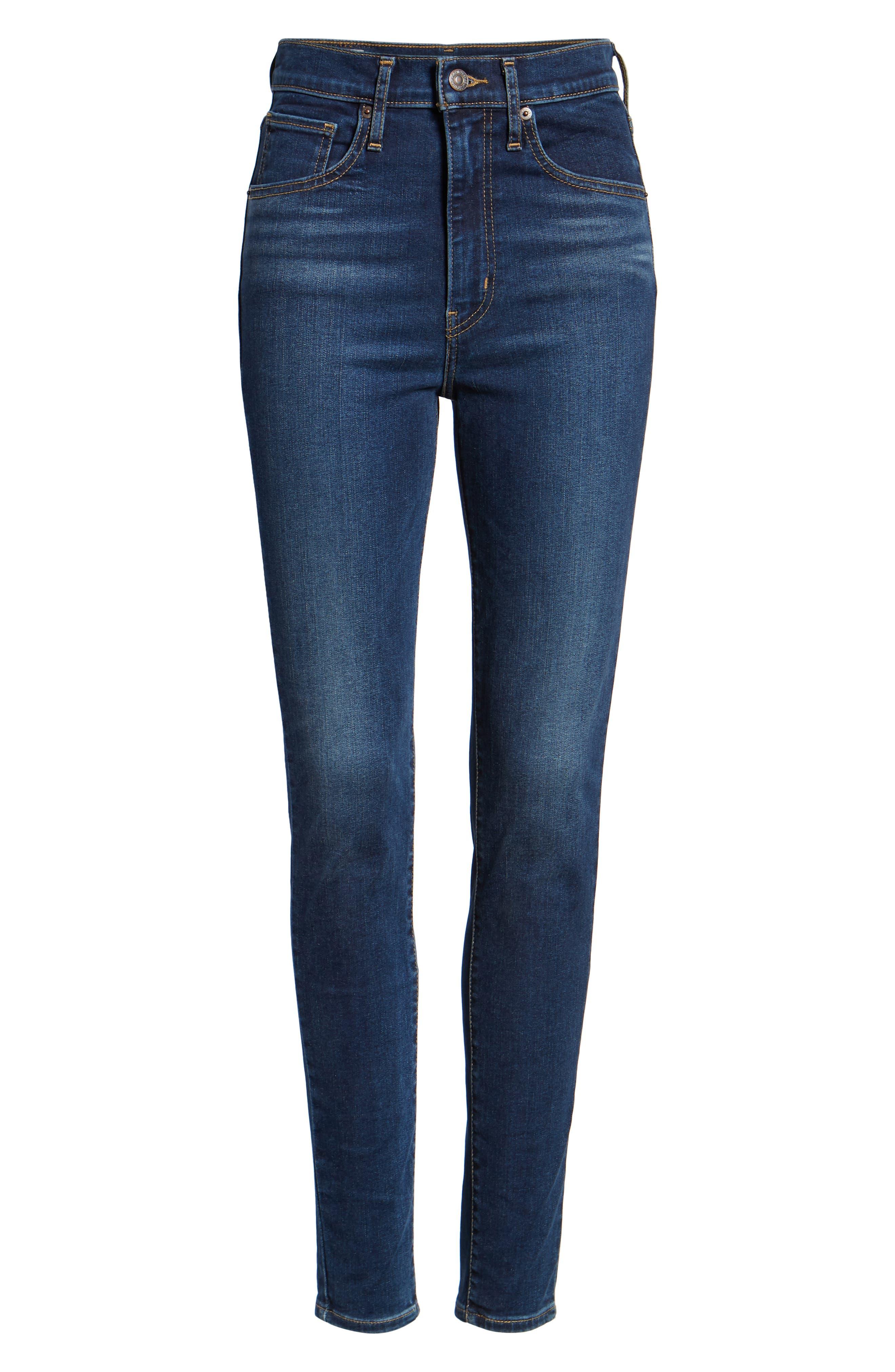 ,                             Mile High Super Skinny Jeans,                             Alternate thumbnail 7, color,                             420