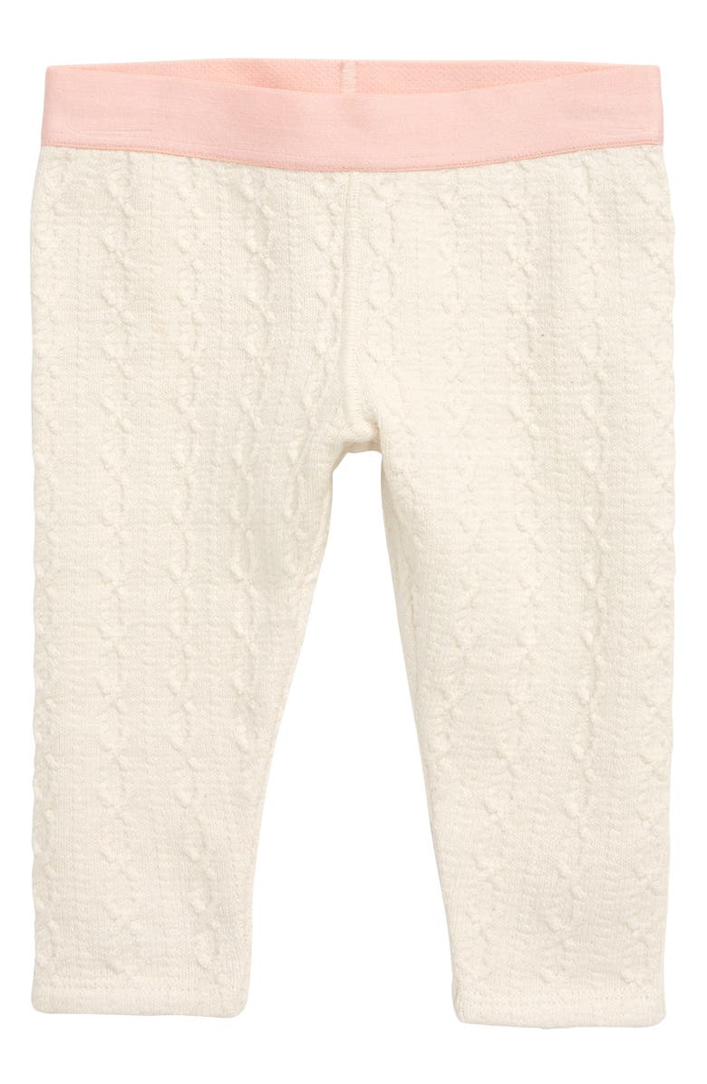 TUCKER + TATE Cable Knit Leggings, Main, color, IVORY EGRET