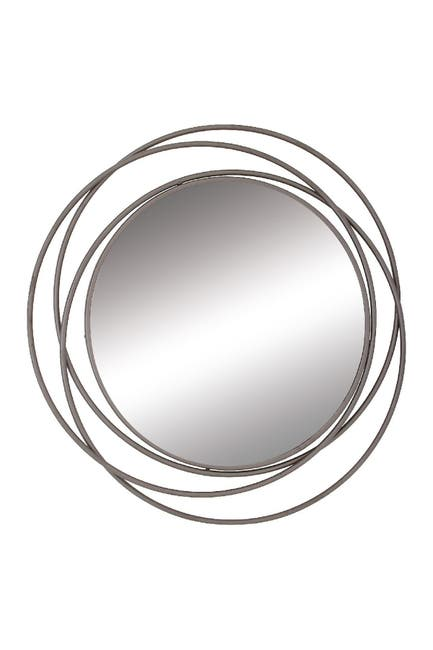 Image of Willow Row Silver/Reflective Modern Overlapping Ring Mirror