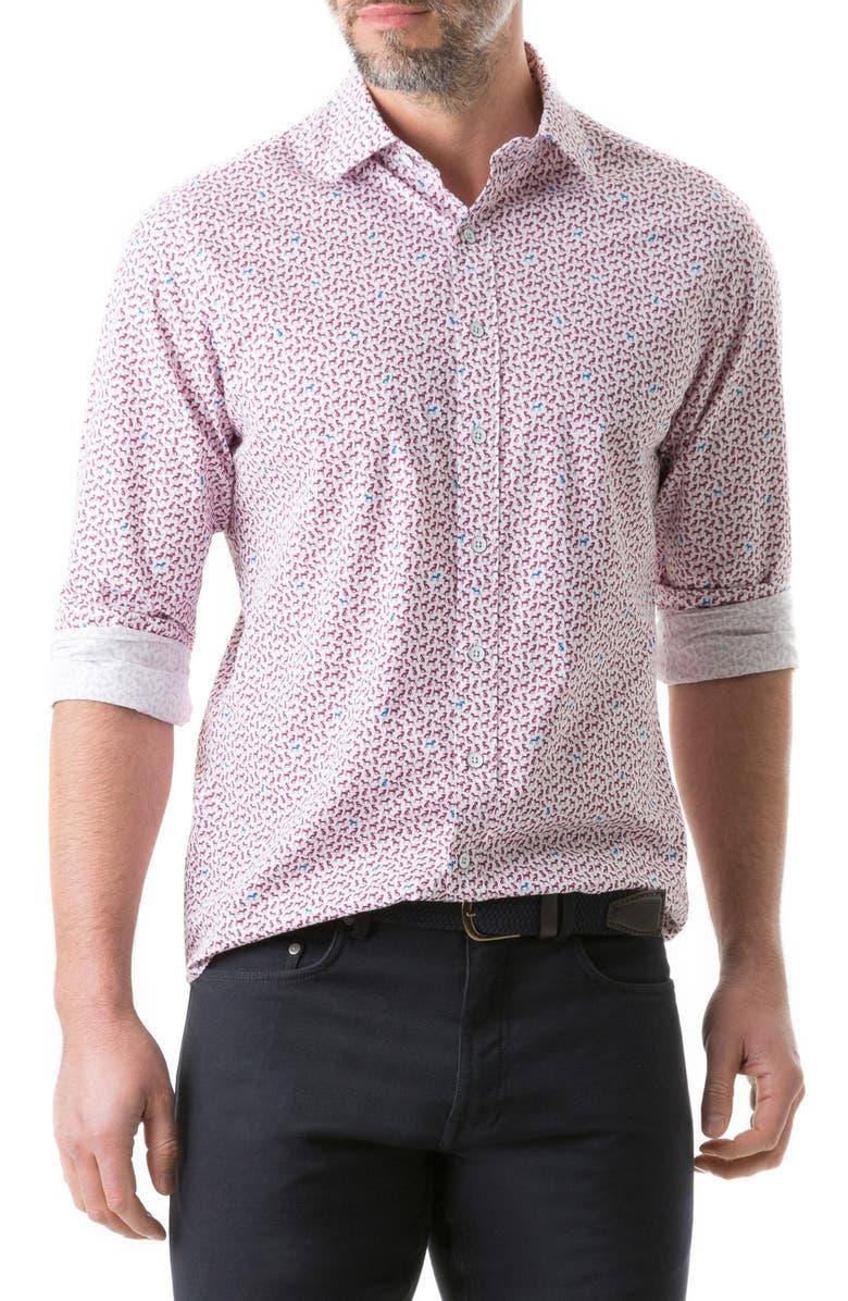 RODD & GUNN Kennels Lane Regular Fit Button-Up Shirt, Main, color, SNOW