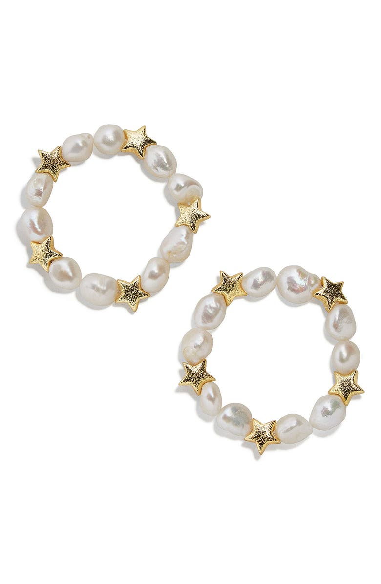 BAUBLEBAR 2-Piece Sofianne Pearl Bracelet Set, Main, color, PEARL/ GOLD