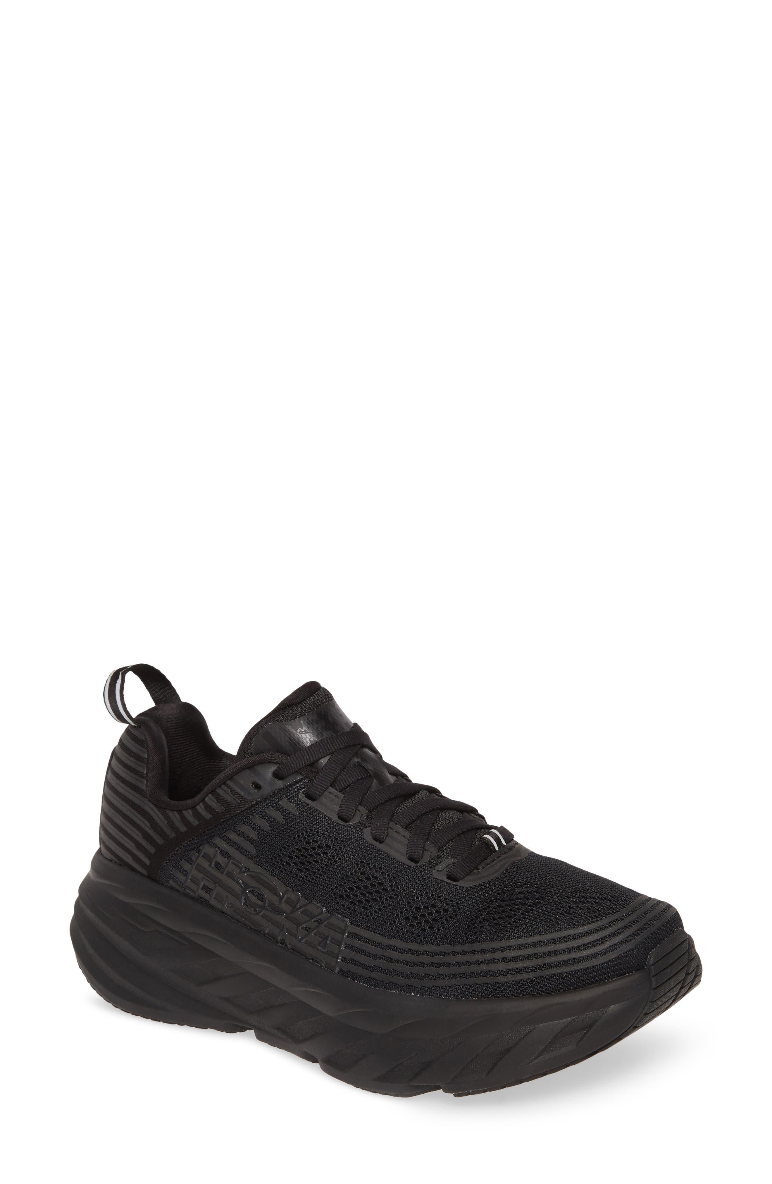Hoka One One Bondi 6 Running Shoe- Black